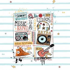 Funda Nórdica MUSIC JVR - Detalle Pano