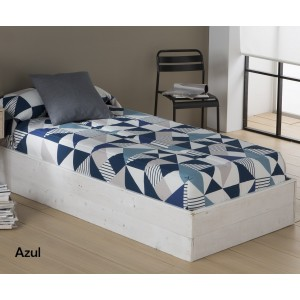 Edredón ajustable EVOL SANSA azul | Softdreams
