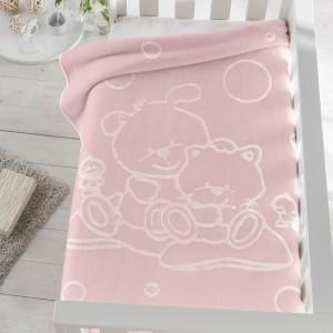 Manta bebé gofrada 6638 Pielsa Rosa