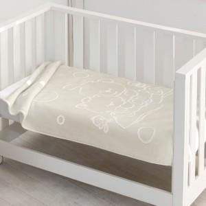Manta bebé gofrada 6638 Pielsa Natural