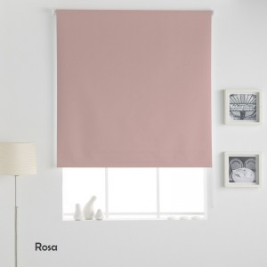 Estor Enrollable LISO OPACO Rosa