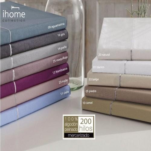 Juego sábanas vivo perlado IHOME algodón 200 hilos ABECE| Softdreams