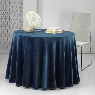Falda mesa camilla Rectangular PREMIUM Azul