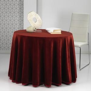 Falda mesa camilla Rectangular PREMIUM Burdeos